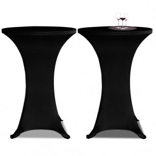 2 x Tischhusse für Stehtisch Stretchhusse Ø70 cm schwarz
