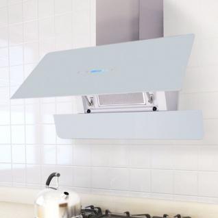 vidaXL Dunstabzugshaube mit Touch-Display Weiß 900 mm
