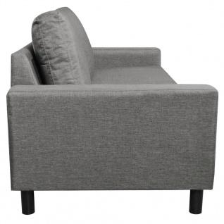 vidaXL 3-Sitzer-Sofa Hellgrau Stoff - Vorschau 4