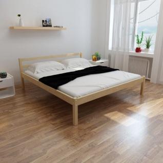 vidaXL Bett mit Matratze 180×200 cm Massives Kiefernholz