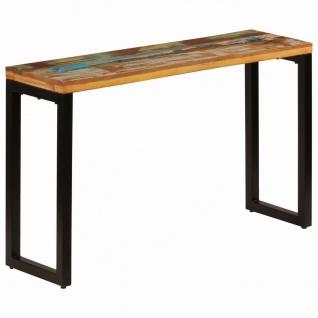 vidaXL Konsolentisch 120 x 35 x 76 cm Recyceltes Massivholz und Stahl
