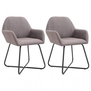vidaXL Esszimmerstühle 2 Stk. Taupe Stoff - Vorschau 1