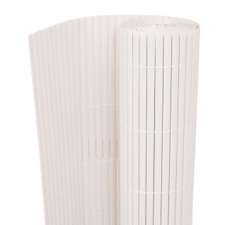 vidaXL Gartenzaun Doppelseitig 195×300 cm Weiß