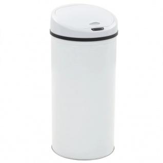 vidaXL Sensor-Mülleimer 52 L Weiß