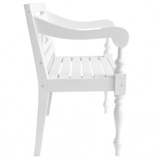 vidaXL Batavia-Stühle 2 Stk. Weiß Mahagoni Massivholz - Vorschau 4
