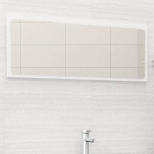 vidaXL Badspiegel Hochglanz-Weiß 100x1, 5x37 cm Spanplatte