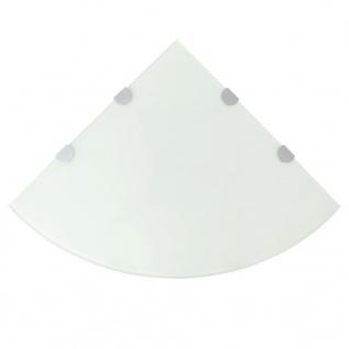 vidaXL Eckregal mit verchromten Halterungen Glas Weiß 45 x 45 cm