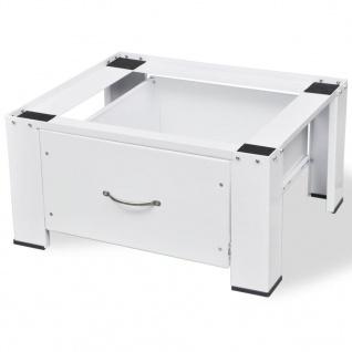 vidaXL Waschmaschinensockel mit Schublade Weiß - Vorschau 3