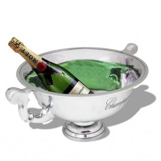 vidaXL Champagner-Kühler Pokal Aluminium Silber - Vorschau 2