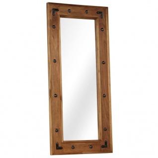 vidaXL Spiegel Massives Akazienholz 50x110 cm