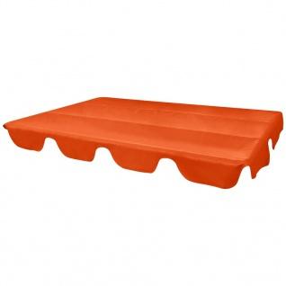 vidaXL Ersatzdach für Gartenschaukel Orange 226x186 cm