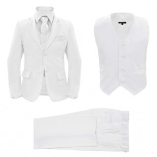 vidaXL Jungen-Anzug 3-tlg. Größe 104/110 Weiß