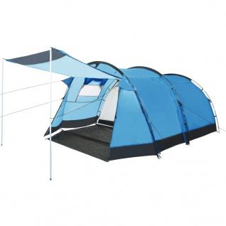vidaXL Tunnel-Campingzelt 4 Personen Blau