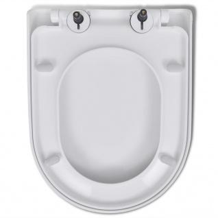 vidaXL Toilettensitze mit Absenkautomatik 2 Stk. Kunststoff Weiß - Vorschau 4