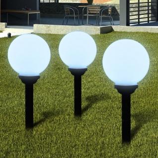 Außenlampe Solarkugel Solarlampe LED Kugellampe 3tlg.
