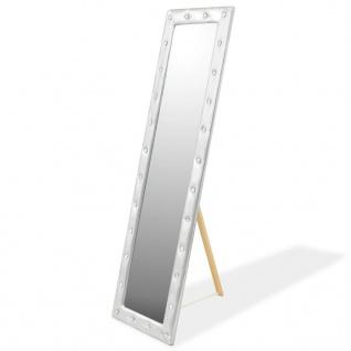 vidaXL Standspiegel Kunstleder 45 x 150 cm Silbern Glänzend