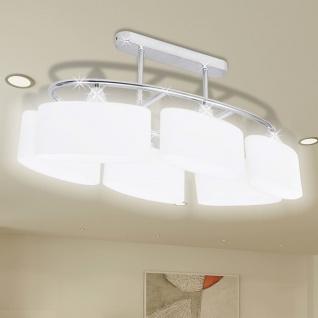 vidaXL Deckenlampe mit ellipsenförmigen Glasschirmen 4 Stk. E14 - Vorschau 3