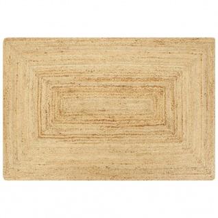 vidaXL Teppich Handgefertigt Jute Natur 160x230 cm