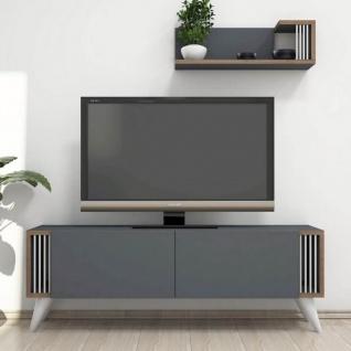 Homemania TV-Schrank Nicol 120x31x42 cm Anthrazit - Vorschau 3