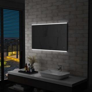 vidaXL Badezimmer-Wandspiegel mit LED und Touch-Sensor 100 x 60 cm