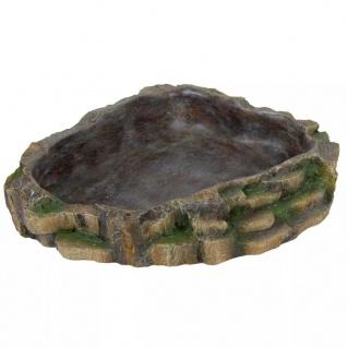TRIXIE Reptilien Wasser- und Futterschale 24x20 cm Polyesterharz 76205