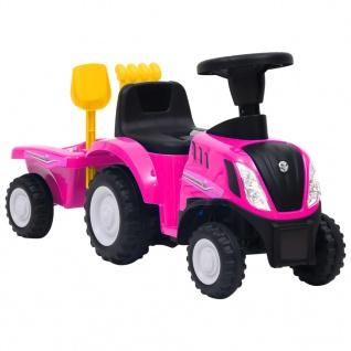 vidaXL Kindertraktor New Holland Rosa