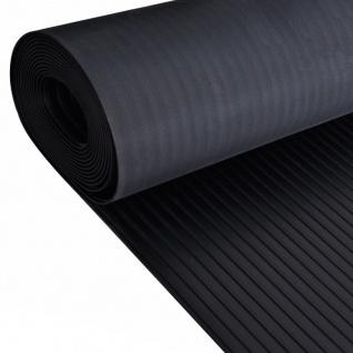 Gummi-Bodenmatte Antirutschmatte 2 x 1 m breit gerippt