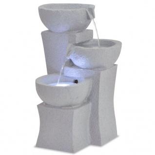 vidaXL Zimmerbrunnen mit LED-Beleuchtung Polyresin