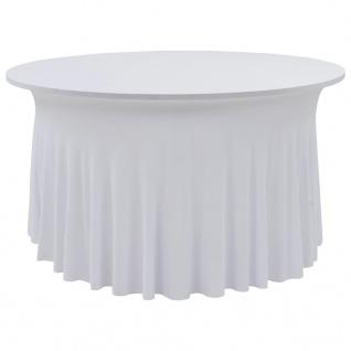 vidaXL 2 Stück Stretch Tischdecken mit Rand Weiß 120x74 cm