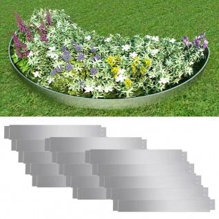 Flexible Rasenkante 15-er Set 100x15 cm Verzinkter Stahl