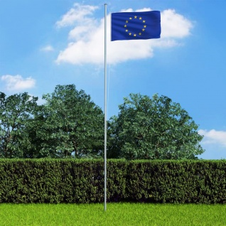vidaXL Europaflagge und Mast Aluminium 6, 2 m