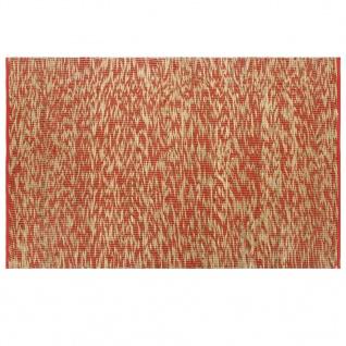vidaXL Teppich Handgefertigt Jute Rot und Natur 120x180 cm