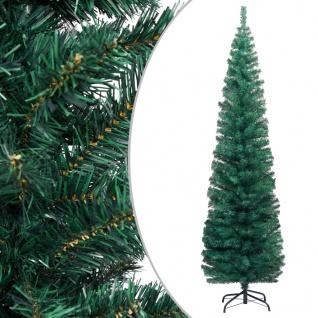 vidaXL Schlanker Künstlicher Weihnachtsbaum mit Ständer Grün 210cm PVC