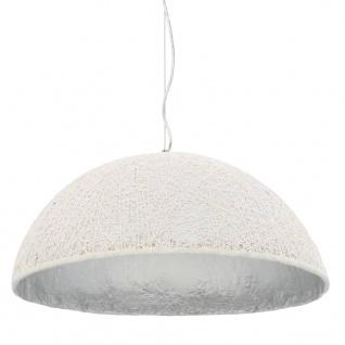 vidaXL Pendelleuchte Weiß und Silbern Ø70 cm E27