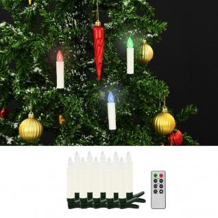 vidaXL Kabellose LED-Weihnachtskerzen mit Fernbedienung 10 Stk. RGB