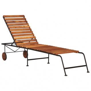 vidaXL Sonnenliege mit Stahlbeinen Massivholz Akazie