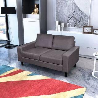 vidaXL Sofa 2-Sitzer Stoff Dunkelgrau
