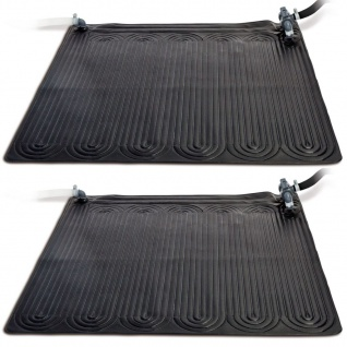Intex Solarmatte Poolheizung 2 Stk PVC 1, 2x1, 2 m Schwarz 28685