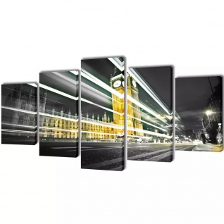 Bilder Dekoration Set London Big Ben 200 x 100 cm