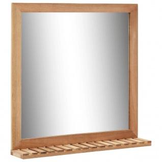vidaXL Badezimmerspiegel 60×12×62 cm Walnuss Massivholz