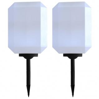 vidaXL Outdoor Solarleuchten 2 Stück LED Kubisch 30 cm Weiß