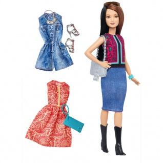 Barbie Fashionistas Puppe und Moden mit Paisley-Muster DTF04