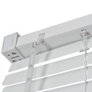 vidaXL Fensterjalousien Aluminium 140x220 cm Weiß - Vorschau 3