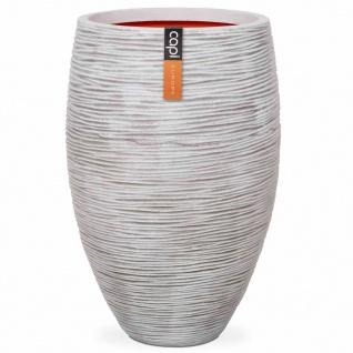 Capi Vase Nature Rib Elegant Deluxe 40 x 60 cm Elfenbein PKOFI1131