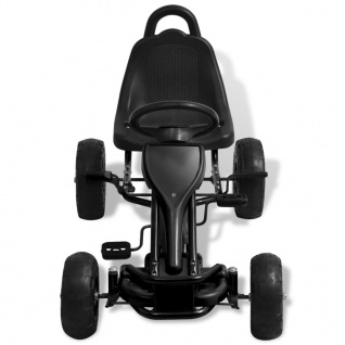 vidaXL Pedal Go-Kart mit Luftreifen Schwarz - Vorschau 3