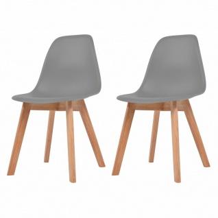 vidaXL Esszimmerstühle 2 Stück Grau