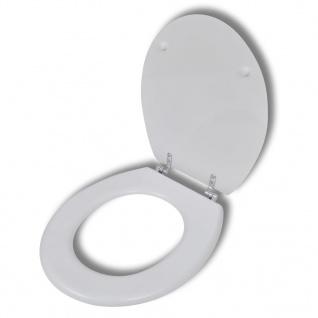 vidaXL Toilettensitz MDF Deckel ohne Absenkautomatik Design Weiß