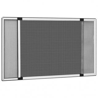 vidaXL Ausziehbarer Insektenschutz für Fenster Weiß (100-193)x75 cm