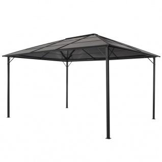vidaXL Gartenpavillon mit Dach Aluminium 4×3×2, 6 m Schwarz