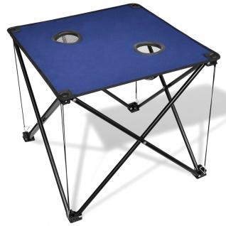 Klappbarer Campingtisch blau